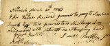 Promissory note from Samuel Partridge, 20 March 1783.